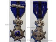 Belgium Belgian Congo WWI Order Leopold II Knight's Cross with King Albert's Silver Palms