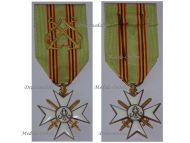 Belgium WW1 Maritime Decoration Cross I Class Gold Anchors WWI 1914 1918 Belgian Naval Medal Navy Great War