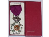 Belgium Order Leopold I Knight's Cross Civil Division 1952 Bilingual Boxed