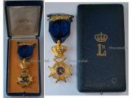 Belgium Officer Military Order Leopold II WW2 Medal Belgian Decoration Merit BOX