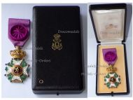 Belgium Order Leopold I Officer's Cross Civil Division Bilingual 1952 Boxed by DeGreef
