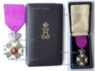 Belgium WWI Order Leopold I Knight's Cross Military Division Boxed by De Vigne Hart