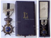 Belgium Belgian Congo WWII Order Leopold II Knight's Cross with King Leopold's III Silver Palms by Fisch Boxed