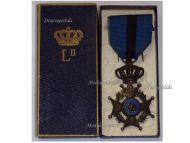 Belgium Belgian Congo WWI Order Leopold II Knight's Cross Boxed by Fonson