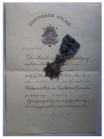Belgium Belgian Congo WWII Order Leopold II Knight's Cross with Swords Diploma