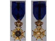 Belgium WW2 Order Leopold II Officer's Cross WWII 1945 Belgian Decoration Civil Military Congo 1952 Bilingual