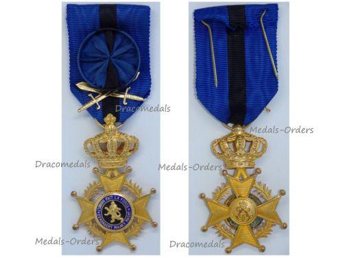Belgium Belgian Congo Order Leopold II Officer's Cross with Swords 1952 Bilingual