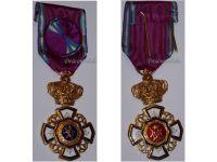 Belgium WW2 Royal Order Lion Officer's Cross WWII 1939 1945 Belgian Congo Decoration Civil Military Leopold III