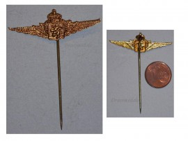 Belgium WW2 Air Force Pilot Wings pin NCO Military Medal Badge Insignia Decoration WWII 1940 1945