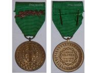 Belgium WW1 WW2 Prisoners War Labor Valorem Civil Military Medal palms Belgian Decoration Award WWI WWII