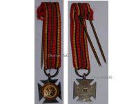Belgium WW2 Cross Army Rhine Occupation Military Medal Belgian Decoration Award WWII 1940 1945 MINI