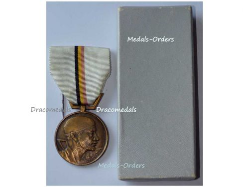 Belgium WW2 National Belgian Movement Resistance Military Medal Decoration Award WWII 1940 1945 Boxed by Van Larebeke