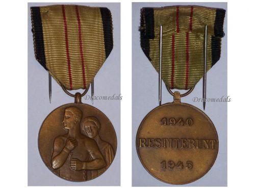Belgium WW2 Belgian Civil Unarmed Resistance Commemorative Medal