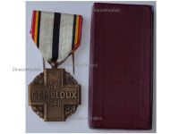 Belgium WWII Gembloux Battle Commemorative Medal by Maurice Avril Boxed