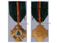 Belgium WW2 Resistance Cross Maquis Military Medal Belgian Decoration Award WWII 1940 1945