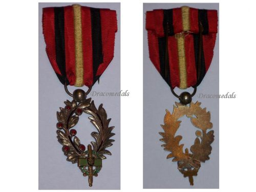 Belgium Palms Veterans Army Rhine Occupation Military Medal Belgian Decoration Award WW1 1918 WW2 1945