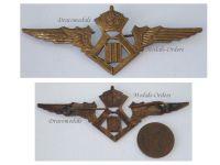 Belgium WW2 Pilot Wings Belgian Royal Air Force Badge Insignia Military Aviation King Leopold III WWII 1940 1945