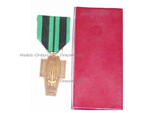 Belgium WW2 Radio Operators Intelligence Agents Resistance Military Medal WWII 1940 1945 Belgian Decoration by Fibru Boxed