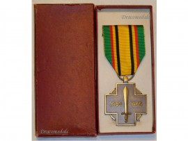 Belgium WW2 Combatants Cross Belgian Military Medal Belgian Decoration Award WWII 1940 1945 Boxed