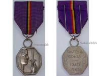 Belgium WW2 Country Gratitude Silver 1940 1945 WWII Military Medal Decoration Belgian Award
