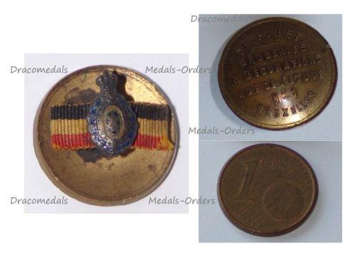 Belgium WWI Lapel Pin Habilete Moralite Labor Merit Medal Badge MINI by Piret