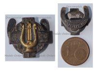 Belgium WWI Lapel Pin Military Band Membership Badge by Huguenin Freres