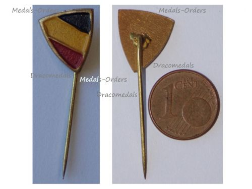 Belgium WWI Belgian Flag Patriotic Stickpin Badge