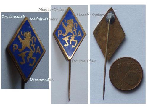 Belgium WWII Belgian Armed Partisans PA Resistance Group Badge Stickpin
