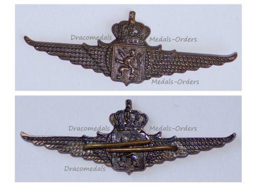 Belgium WWII Belgian Air Force Wings Cap Badge for NCOs 1945