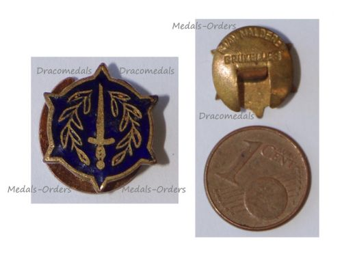 Belgium WWI Lapel Pin Invalid Mutilated Combatants 1914 1918 Badge by Van Malderen