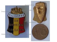 Belgium WWI Lapel Pin Vilvoorde Veterans 1914 1918 Badge