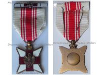 Belgium WWI Belgian Red Cross Merit Medal for Civilian Blood Donors with Silver Clasp