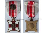Belgium WWI Belgian Red Cross Merit Medal for Civilian Blood Donors with Bronze Citation