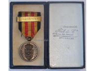 Belgium Army Mobilization Military Medal Franco Prussian War 1870 1871 w Bar Federation 1870-71 Boxed by Fisch Belgian