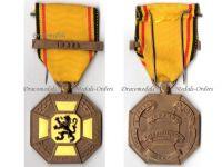 Belgium WW1 Cross 3 Cities West Flanders Military Medal 1914 1918 bar Ypres Commemorative Belgian Award