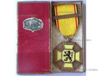 Belgium WWI Cross of the 3 Cities with Ieper (Ypres) Clasp Boxed by Piret
