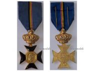 Belgium Military Cross Veterans King Leopold II Medal 1865 1909 Belgian Decoration Award