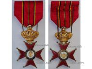 Belgium Royal Rescuers Antwerp Cross King Leopold 1880 Life Saving Medal Belgian Decoration 1st Version
