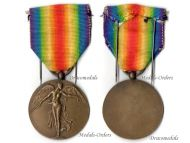 Belgium WW1 Victory Interallied Belgian Military Medal WWI 1914 1918 Great War Unifacial Laslo type 3 Decoration