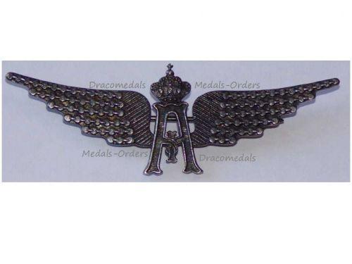 Belgium WW1 Pilot Wings Belgian Military Aviation Air Force Cap Badge King Albert WWI 1914 1918 Great War