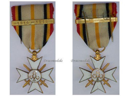 Belgium WW1 Civic Cross War Merit 1st Class Gold bar 1914 1918 Belgian Civil Decoration King Albert