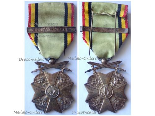 Belgium WWI Civic Medal for War Merit 2nd Class with Clasp 1914 1918