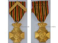 Belgium WW1 Military Decoration Loyal Service I Class Cross Chevron Medal Belgian King Albert WWI 1914 1918