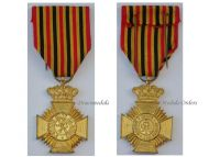 Belgium WW1 Military Decoration Loyal Service II Class Cross Medal Belgian Award King Albert WWI 1914 1918