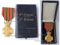 Belgium WWI Military Decoration for Loyal Service 2nd Class (10 Years) for NCOs King Albert 1909 1934 Boxed