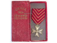 Belgium WW1 Cross Deportees Deportation Commemorative Military Medal 1914 1918 Belgian Decoration boxed