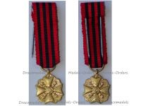 Belgium WWI Gold Civil Medal of Long Service in State Administration 3rd Class MINI