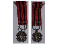 Belgium WWI Civil Decoration Bravery Devotion Philanthropy Silver Medal MINI