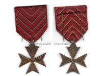 Belgium WW1 Cross Deportees Deportation Commemorative Military Medal 1914 1918 Belgian Decoration