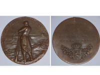Belgium WWI Yser Battle Bronze Commemorative Plaque Medal 1914 1918 for Card of Fire Recipients